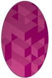 rug #997461 | oval pink geometry rug