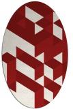 rug #997501 | oval red geometry rug