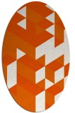 rug #997521 | oval red-orange graphic rug