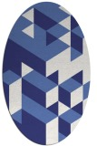 rug #997533 | oval blue graphic rug
