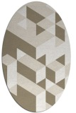 rug #997545   oval beige retro rug