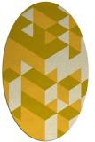 rug #997549 | oval yellow retro rug