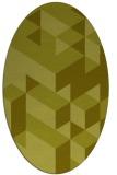 rug #997573   oval light-green rug