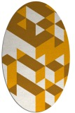 rug #997589 | oval light-orange graphic rug
