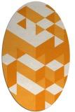 rug #997597 | oval light-orange rug