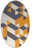 rug #997601 | oval white geometry rug