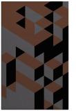 rug #997613 |  black retro rug