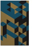 rug #997633 |  mid-brown graphic rug