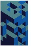 rug #997637 |  blue geometry rug