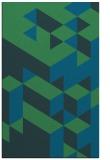 rug #997673 |  blue graphic rug
