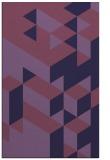 rug #997705 |  blue-violet retro rug