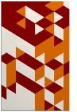 rug #997809 |  orange geometry rug