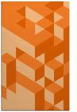 rug #997873 |  red-orange retro rug
