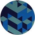 rug #997997 | round blue retro rug