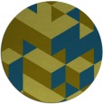 rug #998045 | round green graphic rug
