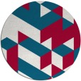rug #998085 | round red graphic rug