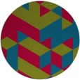 rug #998089 | round blue-green graphic rug