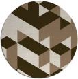rug #998117 | round beige retro rug
