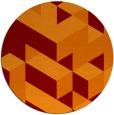 rug #998165 | round red-orange rug