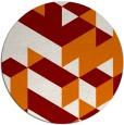 rug #998169 | round orange retro rug