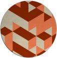 rug #998173 | round beige graphic rug