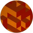 rug #998217 | round red retro rug