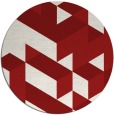 rug #998221 | round red retro rug