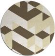 rug #998273 | round yellow retro rug