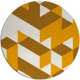 rug #998309 | round light-orange retro rug