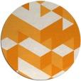 rug #998317   round light-orange retro rug