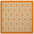 rug #998685   square orange geometry rug