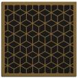 rug #998705 | square mid-brown borders rug