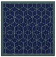 rug #998725 | square blue-green borders rug