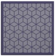 rug #998777 | square blue-violet geometry rug