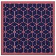 rug #998781 | square blue-violet borders rug