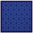 rug #998789 | square blue-violet borders rug