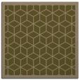 rug #998801 | square mid-brown borders rug