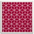 rug #998805 | square red borders rug