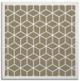 rug #998841 | square mid-brown borders rug