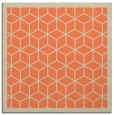 rug #998893 | square orange geometry rug