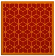 rug #998937 | square red borders rug