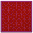 rug #998945 | square red borders rug
