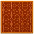 rug #998949 | square red-orange rug
