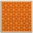 rug #998953 | square red-orange rug