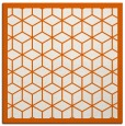 rug #998961 | square red-orange geometry rug