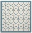 rug #998985 | square blue-green borders rug