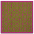rug #999021 | square pink borders rug