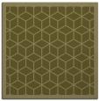 rug #999025 | square light-green borders rug