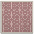 rug #999033 | square pink borders rug