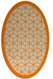 rug #999045 | oval orange geometry rug